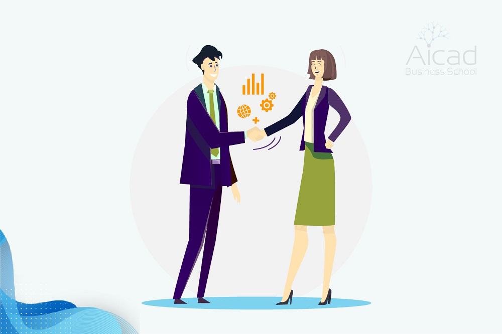 Hombre ofreciendo orientación al cliente